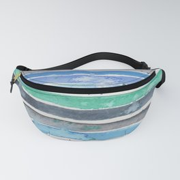 Watercolor nautical stripes Fanny Pack