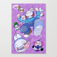 cryaotic Canvas Prints featuring Cryaotic :: JUMP by Thais Magnta Canha