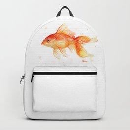 Goldfish Watercolor Fish Backpack