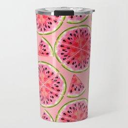 pink watermelon pattern Travel Mug