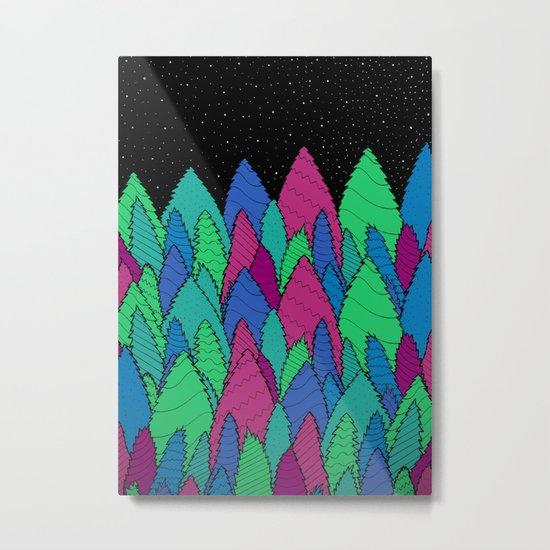 Night Forest Metal Print