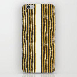 Zen Stripe Block Print Mustard iPhone Skin