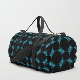 3-Dimensional Blue Circles Duffle Bag
