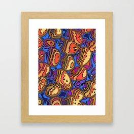 Colored Eggs Framed Art Print