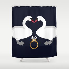 Swans in Love Shower Curtain