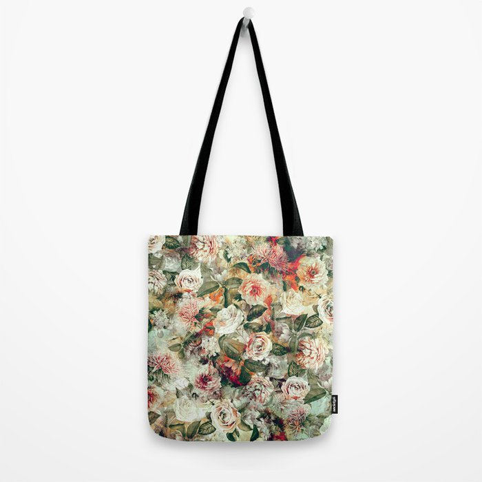 Floral Pattern RPE121 Tote Bag