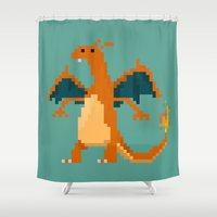 charizard Shower Curtains featuring Charizard by GregSuj