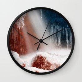 Winter Harmony Stream - Red White & Blue Wall Clock