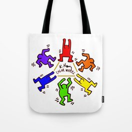Keith Haring inspired Color Wheel Tote Bag