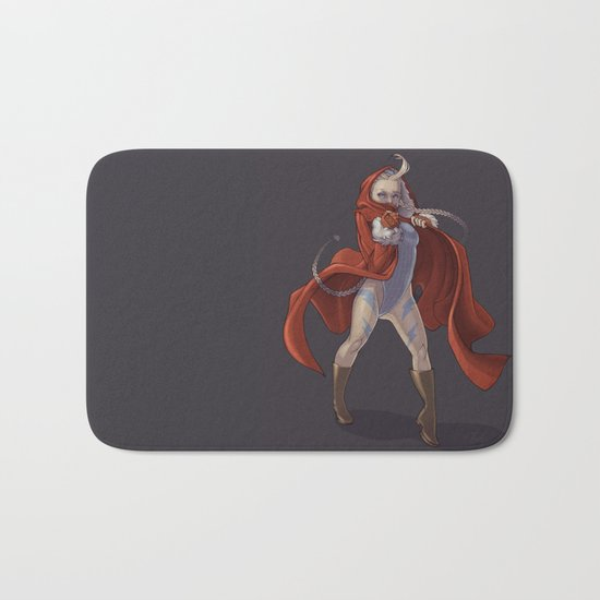 Cammy White Bath Mat