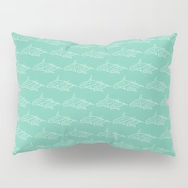 Green faceted Whale Pillow Sham
