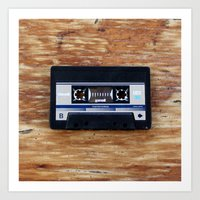 cassette Art Prints featuring Cassette by Coconut Living