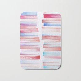 13 | 181101 Watercolour Palette Abstract Art | Lines | Stripes | Bath Mat