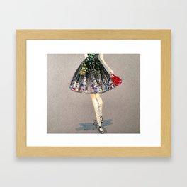 Colorful Skirt Fashion Illustration by Elaine Biss Framed Art Print