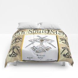 Twin Souls Merge Comforters