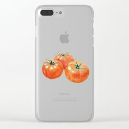 Three Tomatoes Clear iPhone Case