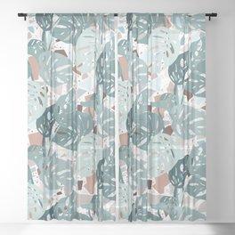 Leaves+Terrazzo°° Sheer Curtain