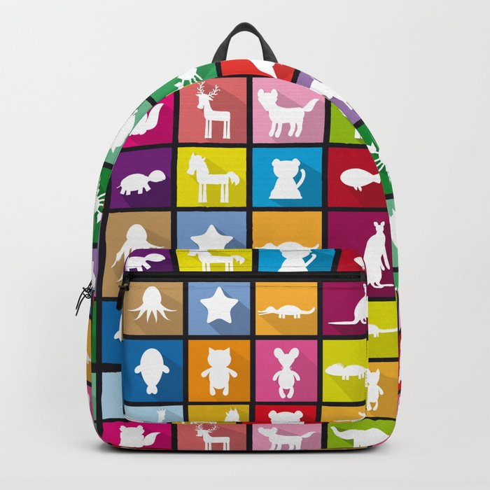 silhouettes of animals Rucksack