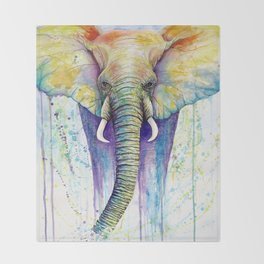 Colorful Elephant Throw Blanket