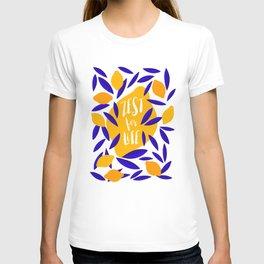 'Zest for Life' lemon pattern #positivity T-shirt