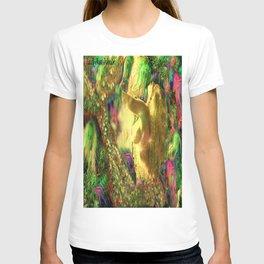 Nude mermaid & jelly fish ladykashmir T-shirt