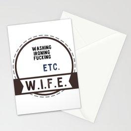 W.I.F.E. - wife, milf Stationery Cards