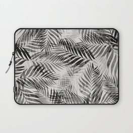Palm Leaves - Black & White Laptop Sleeve