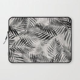 Palm Leaves - Black & White Laptop Sleeve