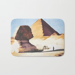 The Great Sphinx And Pyramid Bath Mat