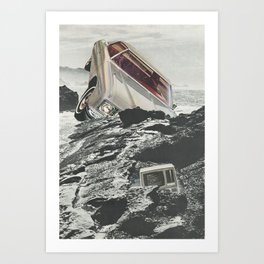 Computer Crash Art Print