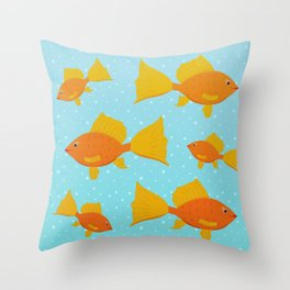 All the Fishes Throw Pillow