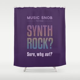 Synth Rock — Music Snob Tip #069 Shower Curtain