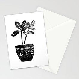 House Plants linocut black and white minimal modern lino print perfect decor piece Stationery Cards