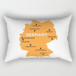 Germany Map Berlin Dusseldorf Frankfurt Munich Rectangular Pillow