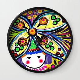 Earth Girl Wall Clock
