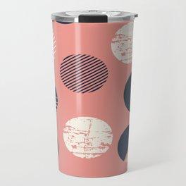 Abstract Circles In Pink Travel Mug