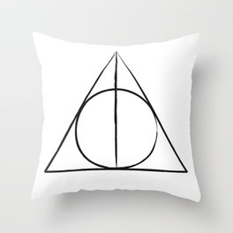 The Deathly Hallows Throw Pillow