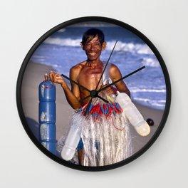 FISHERMAN - BEACH - VIETNAM - ASIA Wall Clock
