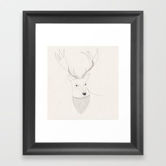 Well hello there dear  Framed Art Print
