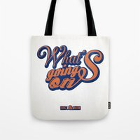 hiphop Tote Bags featuring HipHop Anthem : Eric B & Rakim by Lbert