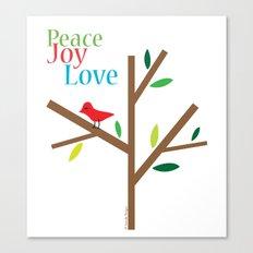 Peace Joy Love Canvas Print