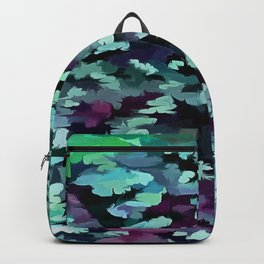 Foliage Abstract Pop Art In Teal, Blue and Green Backpack