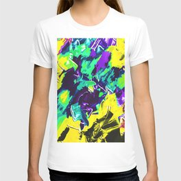 yellow green pink purple painting texture background T-shirt