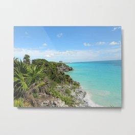 Mexican Beach Metal Print