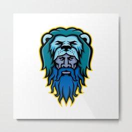 Hercules Wearing Lion Skin Mascot Metal Print