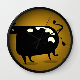 COW MANURE Wall Clock