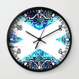 circuit board scotland (Flag) Wall Clock