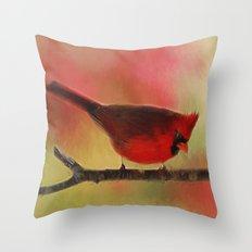 Spring Cardinal Throw Pillow