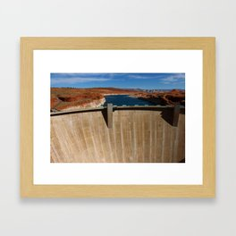 Glen Canyon Dam and Lake Powell Framed Art Print