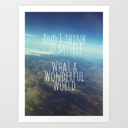 And I Think To Myself... Art Print